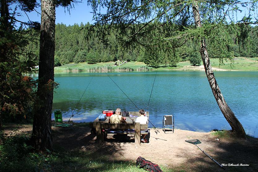 Pescare al lago di Coredo
